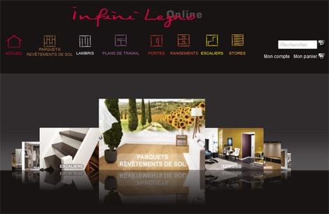 infinilegno Code-Internet vient de mettre en ligne le site e-commerce d'Infini Legno.