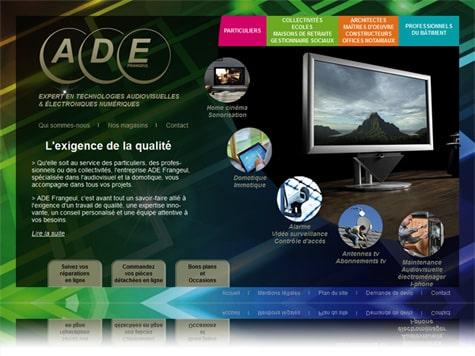 ade53 400 Portobello Communication a créé le site internet de ADE 53.