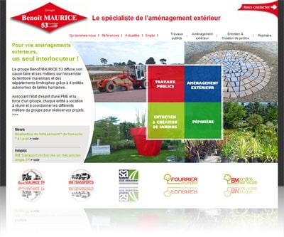 bm53 400 Code-internet et Portobello Communication ont créé le site internet du Groupe Benoît Maurice.