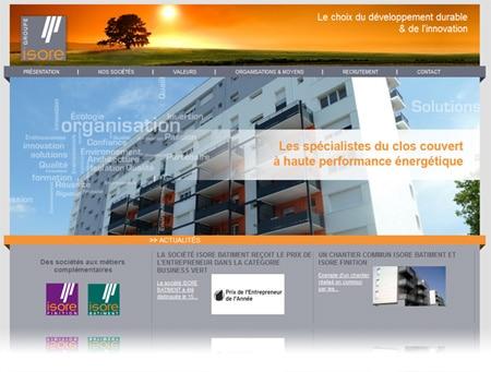 groupe isore 450 Après les sites internet Isore Batiment et Isore Finition, Code-Internet a développé celui du Groupe Isore.