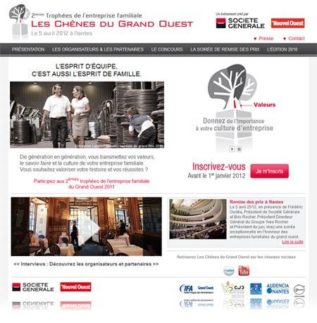 leschenesdugrandouest2012 450 Portobello Communication a mis à jour le site internet Les Chênes du Grand Ouest.