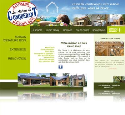 maison bois mayenne 400 Portobello a créé le site internet des Ateliers du Conquerant.