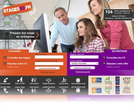 stages53 450 Portobello a terminé la création, le développement et le référencement du site internet stages53.fr.