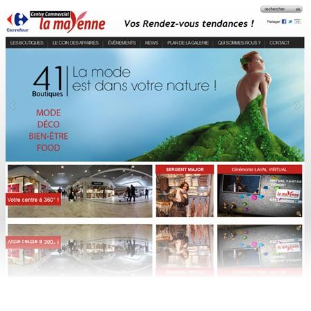 centre lamayenne 450 Mise en ligne du site internet du Centre Commercial La Mayenne