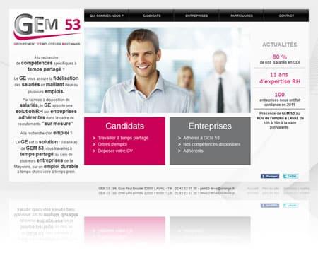 gem53 450 Mise en ligne du site internet du Groupement d'Employeurs Mayennais